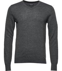 neptune stickad tröja m. rund krage grå bruun & stengade