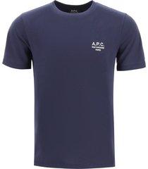 a.p.c. raymond logo embroidery t-shirt
