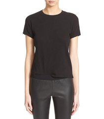 women's atm anthony thomas melillo schoolboy cotton crewneck t-shirt, size small - black