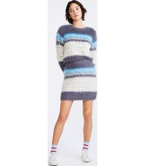 lou & grey fairisle fuzzed sweater skirt