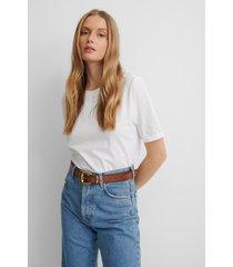 na-kd basic ekologisk t-shirt - white
