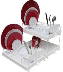 escorredor de louça gigante 30 pratos regulagem altura - carisma