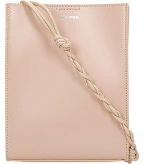 jil sander tangle shoulder bag in powder leather