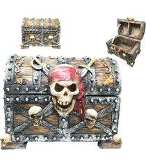 large caribbean pirate crossed blades skull bandana captain marauder hinged jewe