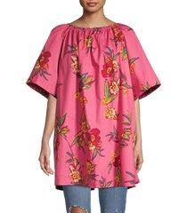 free people women's jodie floral-print tunic - sunrise - size m