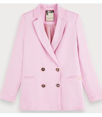 scotch & soda roze crêpe blazer