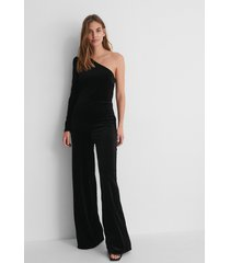 mango jumpsuit - black
