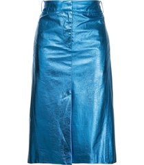 tibi high-waisted midi skirt - blue