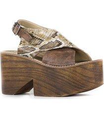 sandalia marrón euro confort