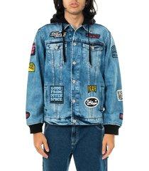 doomsday giubbotto uomo bloodbath denim jacket jck0060sto