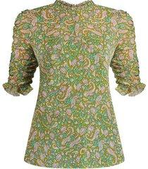 natuka paisley blouse