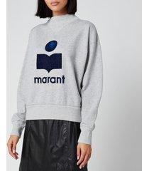 isabel marant étoile women's moby sweatshirt - grey - fr 40/uk 12