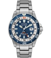 limited edition citizen eco-drive promaster marine titanium bracelet watch 43mm, created for macy's