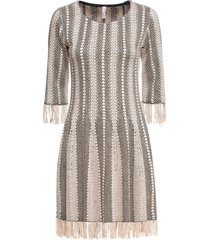 abito in maglia con frange (beige) - bodyflirt boutique