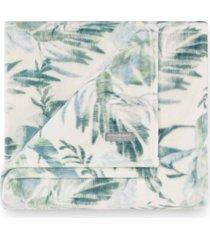 tommy bahama wallpaper leaves castaway ultra soft plush throw bedding