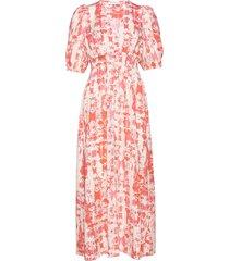 ivy puff dress maxiklänning festklänning rosa storm & marie