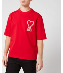 ami men's de coeur t-shirt - rouge - xl