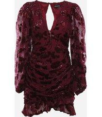 for love & lemons penelope mini dress in metallic chiffon