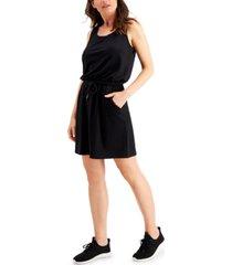ideology drawstring-waist sleeveless dress, created for macy's