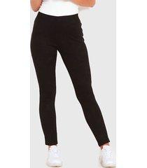 pantalón wados suede negro - calce ajustado