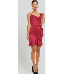 sisters point glossy dress - red