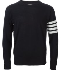thom browne 4-bar merino pullover - blue