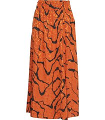 aylingz skirt ma19 knälång kjol orange gestuz
