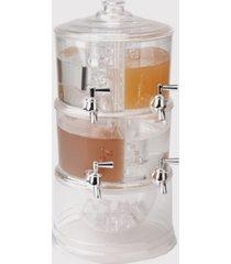 mind reader beverage dispenser 2 tier stackable drink holder with lids