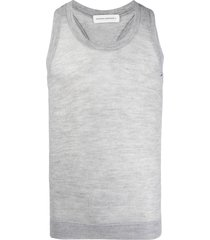 extreme cashmere racerback wool vest top - grey