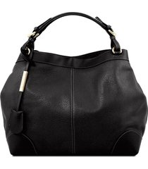 tuscany leather tl141516 ambrosia - borsa in pelle morbida con tracolla nero