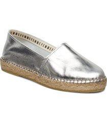 slfmarie metallic espadrilles b sandaletter expadrilles låga silver selected femme