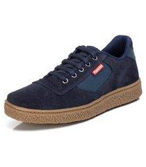 tênis sapatênis casual top franca shoes azul