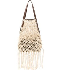 jw anderson natural string bag - white