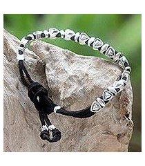 sterling silver wristband bracelet, 'forward vision' (indonesia)