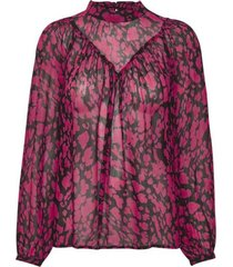 inwear 30104914 clariceiw print blouse pink pettunia irregula