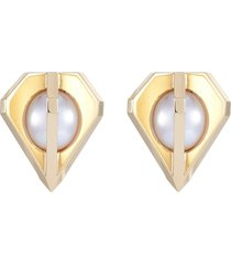 'stellar' akoya pearl 18k yellow gold earrings
