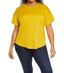 plus size women's madewell sorrel whisper ringer t-shirt, size 3x - green