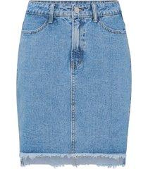 jeanskjol vijules hw slit skirt