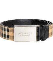 burberry haymarket check belt - neutrals