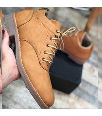 zapato oxford casual - mostaza
