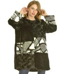 abrigo piedras negro bou's