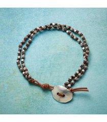 sundance catalog men's do-si-do pewter bracelet