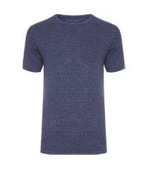 camiseta masculina eco flamê - azul