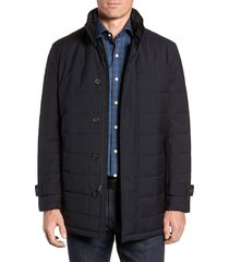 men's cardinal of canada quilted car coat, size x-large - blue