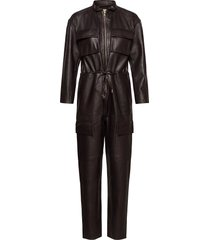 sassy leather jumpsuit jumpsuit brun notes du nord