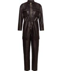 sassy leather jumpsuit jumpsuit brun notes du nord