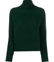 ami rib-knit jumper - green
