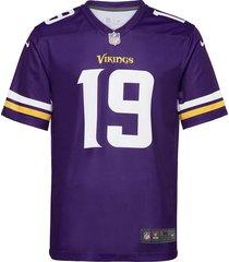 minnesota vikings nike legend jersey t-shirts short-sleeved lila nike fan gear