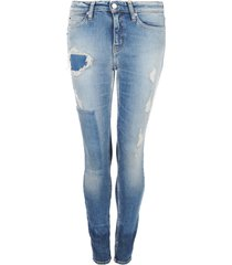 jeansy mid rise skinny