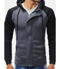 felpe con cappuccio zipper design da uomo